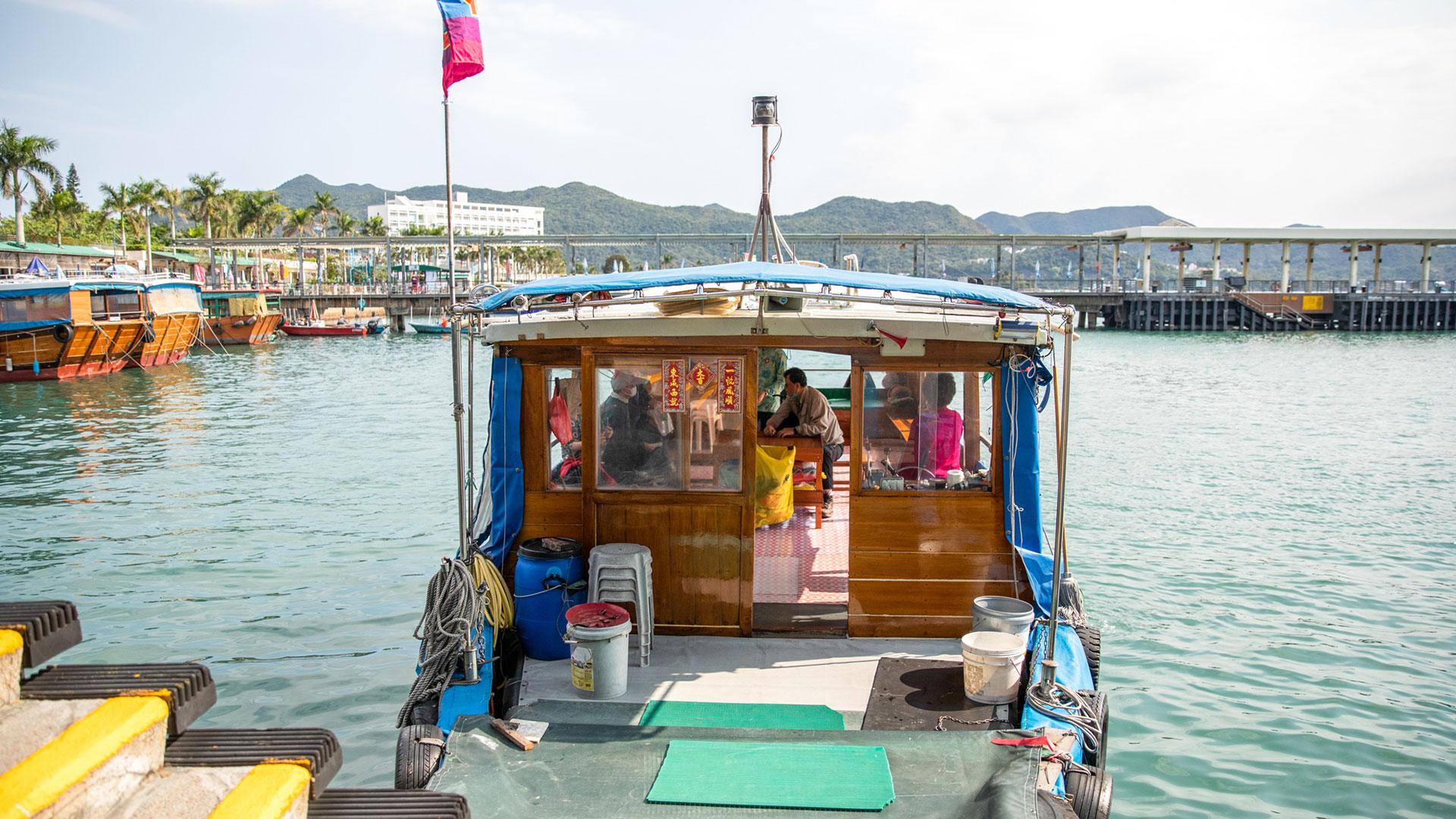 Yim Tin Tsai ferry depart from Sai Kung waterfront