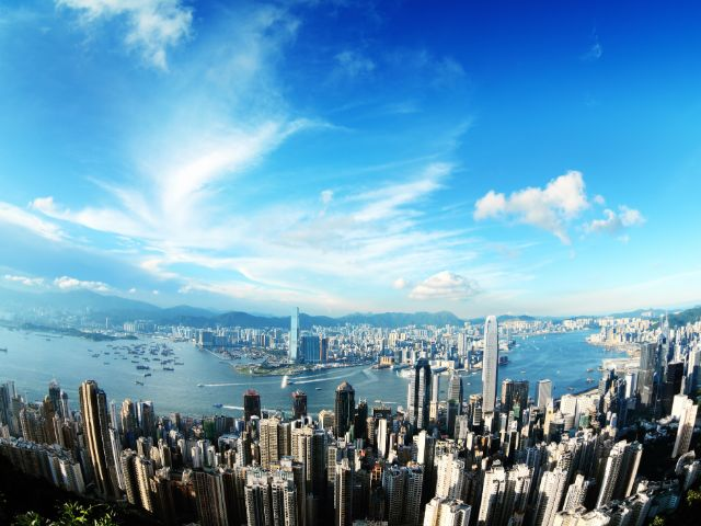 Hong Kong, where the weather is fine